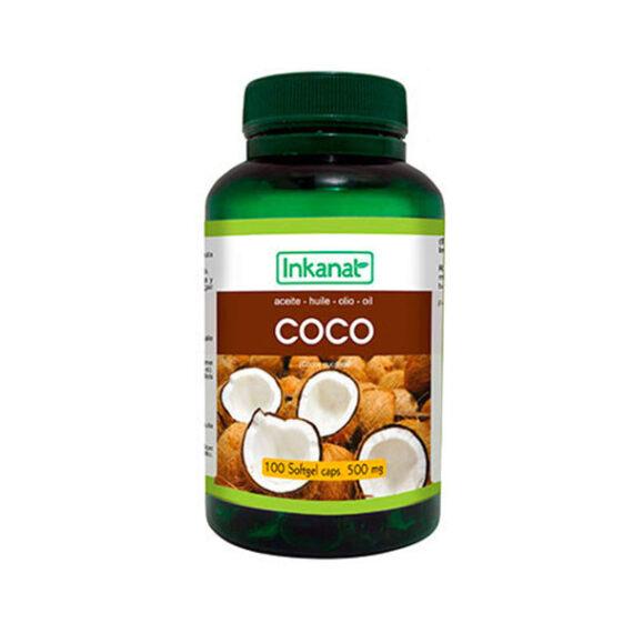 Cápsulas de Aceite de Coco 100x500mg